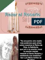 Rezar el Santo Rosario..pps