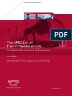 The Apec List of Environmental Goods