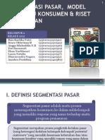 Segmentasi Pasar, Model Perilaku Konsumen & Riset