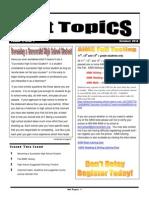 Hot Topics Issue 1