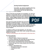 reading comprehension planning packet