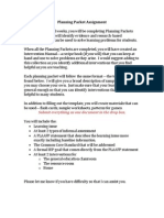 math planning packet