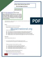 Latihan Soal TIU CPNS 2013
