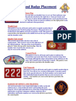 badge placement sheet