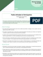 443 Public attitudes to participation