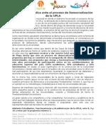 Declaración Pública ante el proceso de Democratización de la Upla