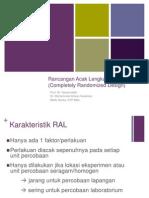 1. RAL (rancangan acak lengkap)