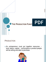 The Production Function (l3a, l3b)