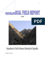 Geological Field Report Of Salt Range and Hazara Range Pakistan