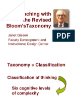 Blooms taxonomy Presentation