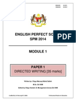 Modul Perfect Score English SPM 2014