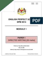 Modul Perfect Score English SPM 2014