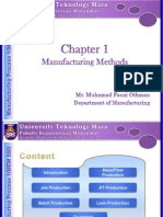 Chapter 01- Manufacturing Methods