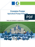 Crompton Greaves Agricultural Pumps Price List