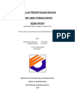 Makalah Resin Urea Formaldehid dan Resin Epoxy. Imtihani Andeska D3Tekkim 13.docx