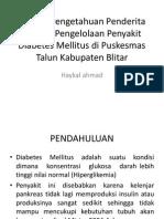 Tingkat Pengetahuan Penderita TentangPengelolaan Penyakit Diabetes Mellitus Di