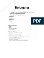 Belonging Notes