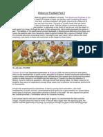 History of Football Part 2