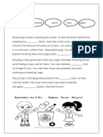 Worksheet Recycle and Reuse