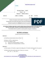 2457icse (Maths Test )Class 9 & 10