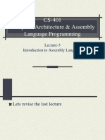 Assembly Language Programming - CS401 Power Point Slides Lecture 03