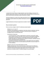 Istruzioni Curriculum Vitae CV