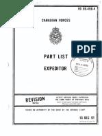 Expeditor 3N 3NM 3TM 3T Part List EO05-45B-4 1970