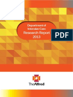 Alfred ICU Research Report 2013