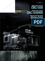 Sony dxc d30