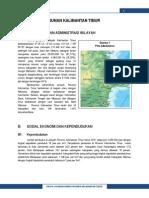 Profil Pembangunan Provinsi 6400KalTim 2013