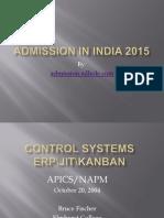 Admisson in India