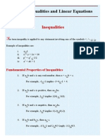 Linear Inequalities and Linear Equations