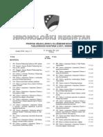 Hronoloski Registar 2011