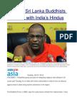 Hardline Sri Lanka Buddhists Seek Ties WithIndia's Hindus