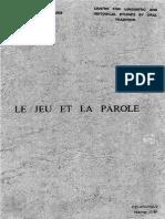 LE JEU ET LA PAROLE.pdf