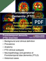 Frontotemporal dementia talk