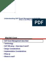 Understanding SAP Event Management