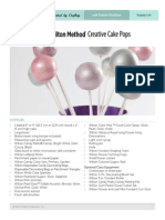 The Wilton Method- Creative Cake Pops - Supplies and Recipes