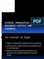 Ethical Principles in Business–Justice and Fairness