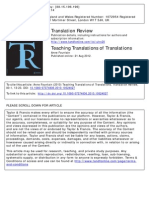 Teaching Translations of Translations