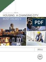 Housing a Changing City Boston 2030
