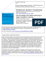Course Design in Legal Translation Training (2011)