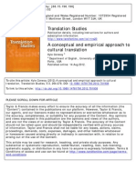 A Conceptual Approach to Cultural Translation (2012)