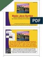 Basic Java Syntax