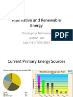 Alternative and Renewable Energy - University of Washington - NicholsonC