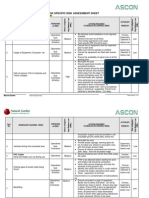 Excavation Risk Assessment Sheet