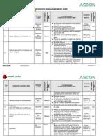 Excavation Risk Assessment Sheet