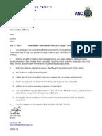 Navy Cadet Order - 2014 Terrorism Threat