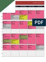 Schedule Mihajlo Bojovic