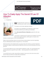 How to Easily Apply the Secret of Law of Attraction